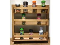 Wren Living Spice Storage Rack   Smeier   Solid Oak   *NEW* A PERFECT GIFT