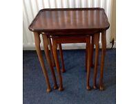 Vintage Retro Mid Century 1950s/60s Mahogany Set of 3 Nesting Tables
