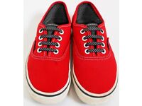 Girls Red Size 1 Vans Trainers - Open to Offers