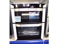 BELLING Electric Built under Double Fan Oven With Grill BI70F Stainless Steel