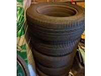 "15"" 4x Steel wheel Rims with tyres"