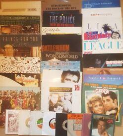Vinyl LP records: 60s-80s Rock/Pop: Beatles, Zep, Duran, Floyd, U2, Police. Singles & Albums £1-£30