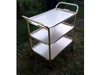 Vintage Retro Carefree Gold Tea Trolley