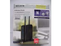 Belkin N Wireless Router F5D8236uk4 for cable connections (Virgin) - cheap.............