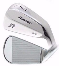Mizuno MP-37 Gent Steel Tour Quality Irons Dynamic Gold S300 Set Shaft Brand New