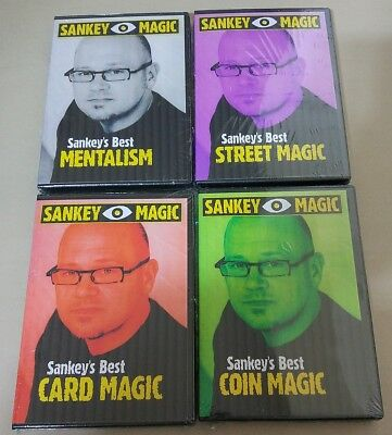 Best of Jay Sankey Magic 4 DVD - Card Coin Street Mentalism Mental for