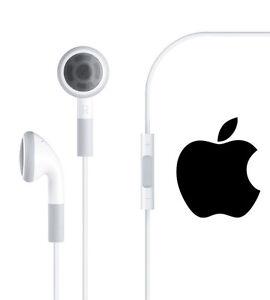 Apple Headphones Mic & Remote Original Authentic Earbuds iPods iPhone 3GS 4S 5S