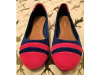 Blue and Pink dolly shoes
