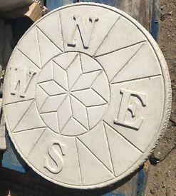 Compass decorative circle