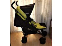 silver cross pop pram 2nd edition , in black and lime good condition and working order and clean ,