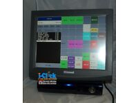 Used Epos Uniwell DX915 15' TouchScreen 4 Fast Food Restaurant Pub Cafe Chip Shop