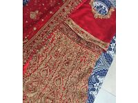 Red and Gold Bridal Lengha BRAND NEW