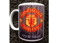 Manchester United Gift Mug - Personalise with your choice of name or dedication