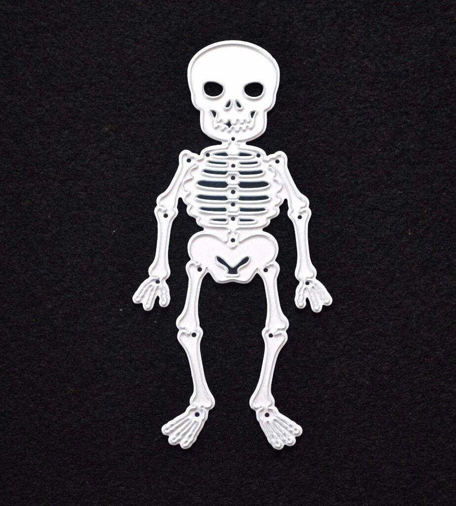 Halloween, Skeleton Metal Cutting Die, Stencil, Scrapbooking, Card Making