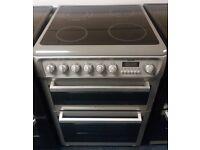 £200 Grey Hotpoint 60cm Ceramic Top Cooker - 12 Months Warranty