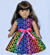 American Girl Doll Dress Peace Sign