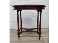 Inlaid Oval Side Table (DELIVERY AVAILABLE FOR THIS ITEM OF FURNITURE)