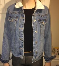Topshop MOTO blue denim jacket size 8