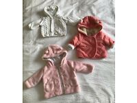 Baby girl jackets (0-3 months)