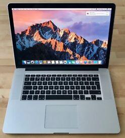 MacBook Pro Retina, 15in, 2.6 i7, SSD, NVIDIA Graphics