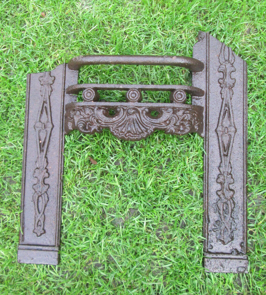 """ORIGINAL VICTORIAN CAST IRON FIRE GRATE 17"""" TALL 16"""" WIDE SUIT BEDROOM SMALL ROOM"""