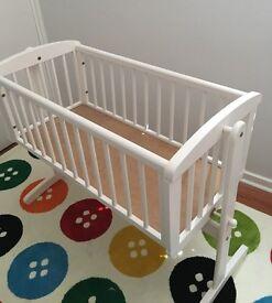 White Mothercare Swinging Crib