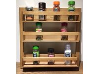 New Oak Spice 3 Rack Kitchen Organizer Storage Wren