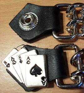 ACES CARDS BIKER DOUBLE CHAIN WAISTCOAT ~ VEST EXTENDER