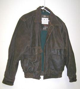 INC-18-OZ-Almost-Large-Medium-Preworn-Black-Leather-Jacket-Unisex-VG-Cond-Mb