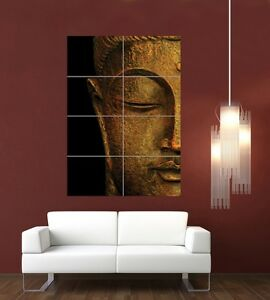 BUDDHA-HEAD-BUDDHIST-STATUE-RELIGION-ICON-GOD-GIANT-PRINT-POSTER-PICTURE-G1039