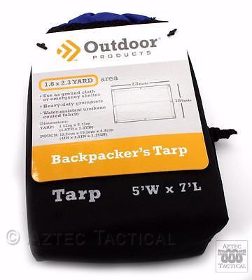 Ultralight Backpacker's Tarp 5x7 Water Resistant Nylon Ground Cloth Footprint