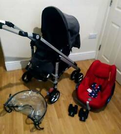 Maxi cosi full travel system with accessories