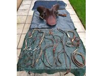 Used Equestrian Job Lot... Saddle, Saddle Cover, Saddle Rack, Bridle, Stable Rug etc.