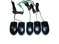 Job Lot of 10 x Wyse PS/2 Optical Black Mouse, MO42KOP