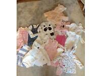 Bag ov girls baby clothes upto 6 months