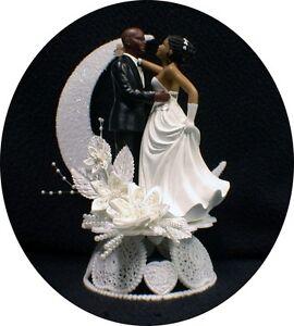 Bald Hispanic Black African American Groom And Bride