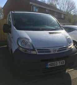 For Sale - Nissan Primistar Van - great little runner - with roof racking and tow bar