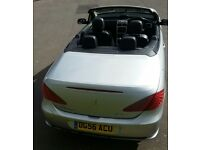 Peugeot 307 convertible hard top sports car silver