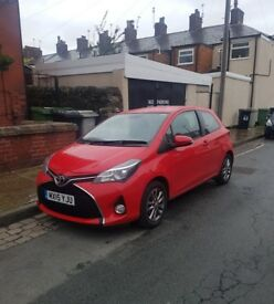 2015 Red Toyota Yaris, Manual, Petrol, 3 door, 26,900 miles