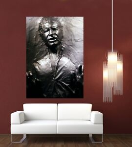 Star wars han solo frozen in carbonite giant 1 piece wall art poster tvf166 ebay - Han solo carbonite wall art ...