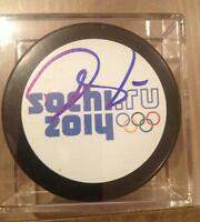 NHL Drew Doughty Signed Authenticated 2014 Sochi Olympic Puck
