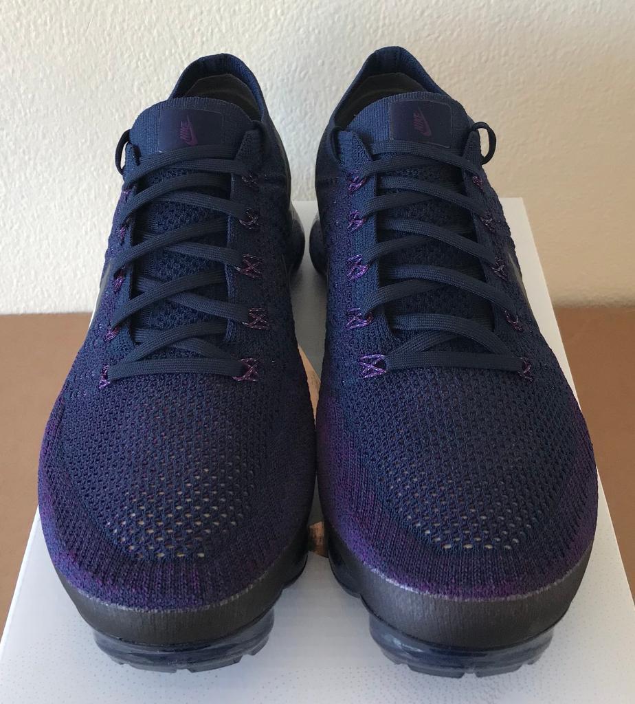 62b614137c857 NikeLab Nike Air Vapormax Flyknit UK 10 Navy Blue Purple Grey - 899473 402