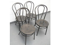 Cafe or Bistro Steel Chairs - Thonet Bentwood Style - £15 each