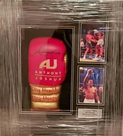 Anthony Joshua Signed Autographed Commemorative Boxing Glove Professionally Framed With COA