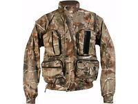 TF Gear Camo Fishing / Hunting Jacket Waterproof XL. Only used twice, excellent condition.