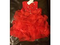 Girl Red Party Dress (NEW)