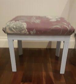 Hand upholstered desk stool