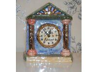 Unique handmade artist-made Edinburgh ceramic lustre clock