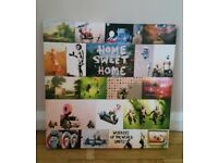 Banksy collage canvas 38cm