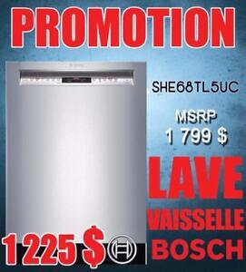 LIQUIDATION 24-inch built-in Bosch dishwasher, Stainless